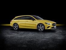 Mercedes CLA Shooting Brake geel