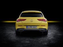 Mercedes CLA Shooting Brake 2019 geel