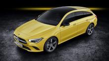 Mercedes CLA Shooting Brake 2019 geel bagageruimte