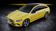 Mercedes CLA Shooting Brake 2019 geel bagageruimte