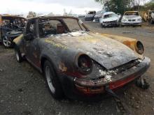 Porsche 911 Turbo Targa met brandschade