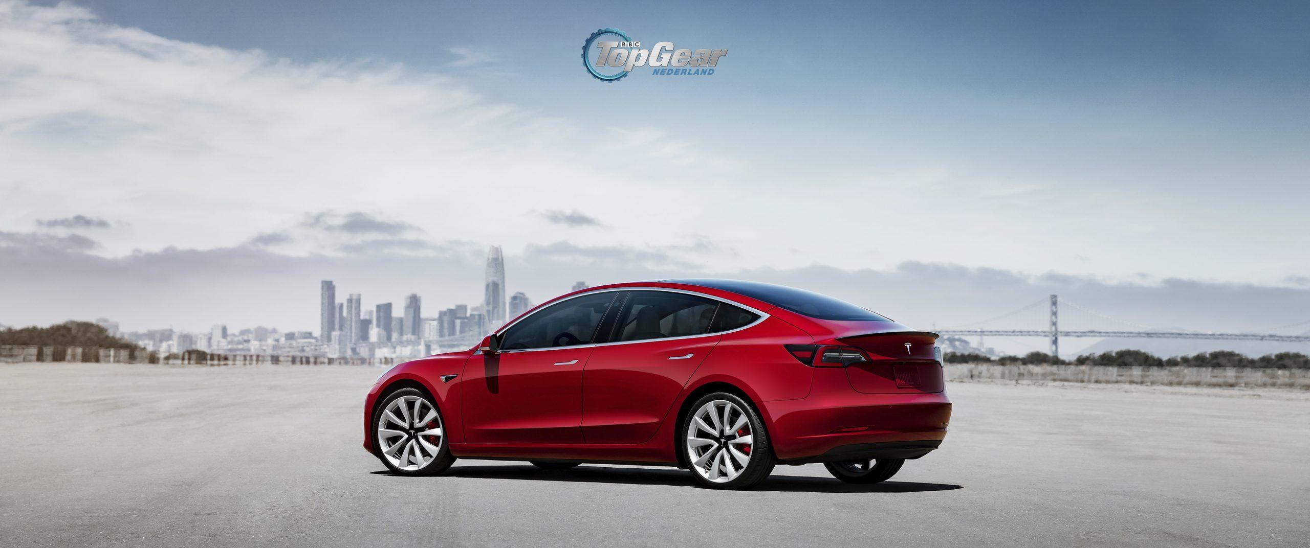 Tesla Model 3 wallpaper desktop en mobiel - TopGear