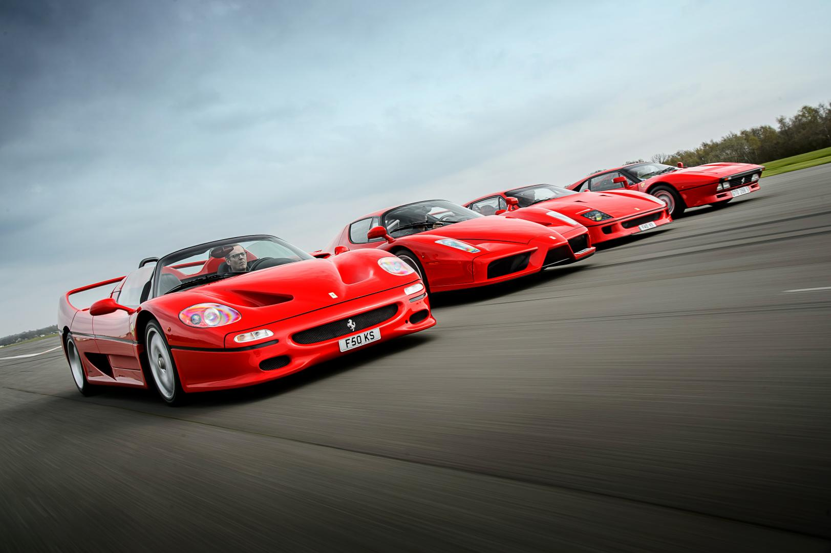 Ferrari's topmodellen bloedlijn