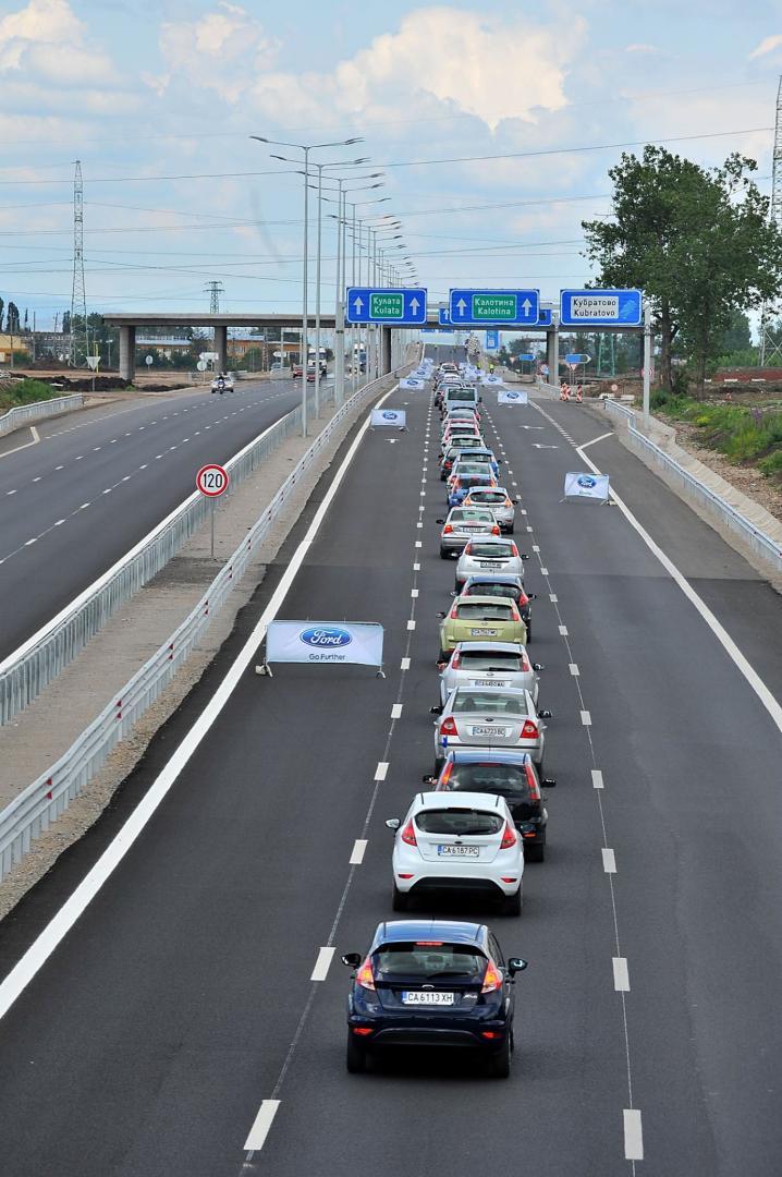 Auto's op de snelweg