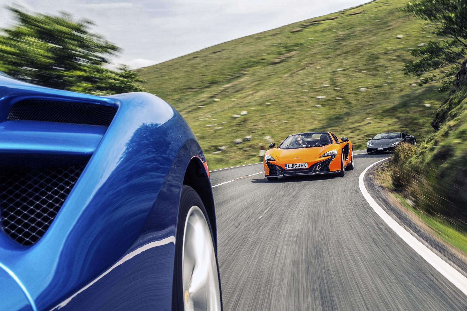 Lamborghini Huracán Spyder vs Ferrari 488 Spider vs McLaren 650S Spider