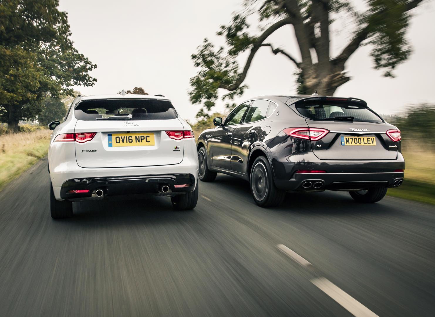 Maserati levante diesel vs jaguar f pace 30d awd s for Interieur jaguar f pace