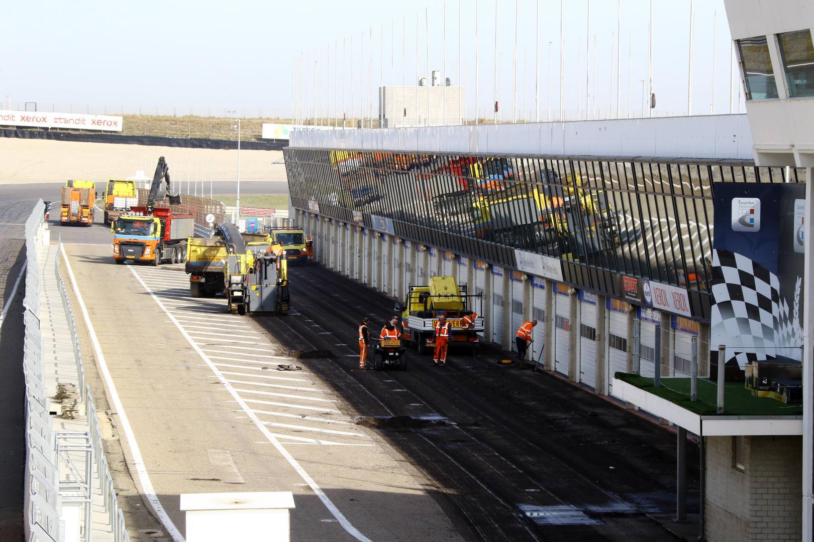Nieuw asfalt voor Circuit Park Zandvoort