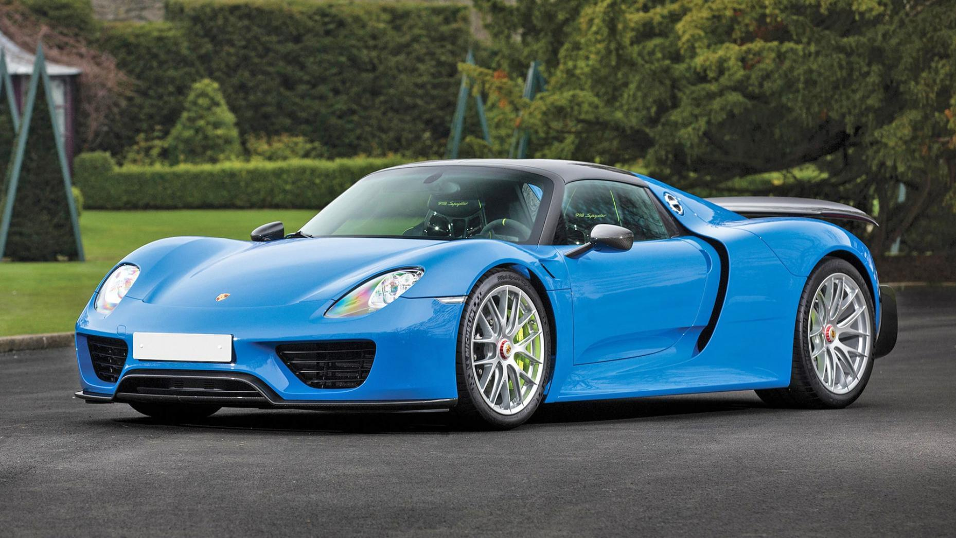 porsche 918 spyder in arrow blue dit is de enige. Black Bedroom Furniture Sets. Home Design Ideas