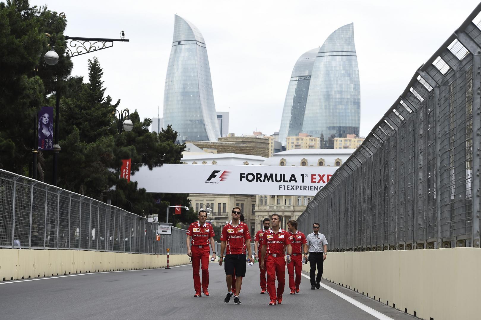 2e vrije training van de GP van Azerbeidzjan 2017