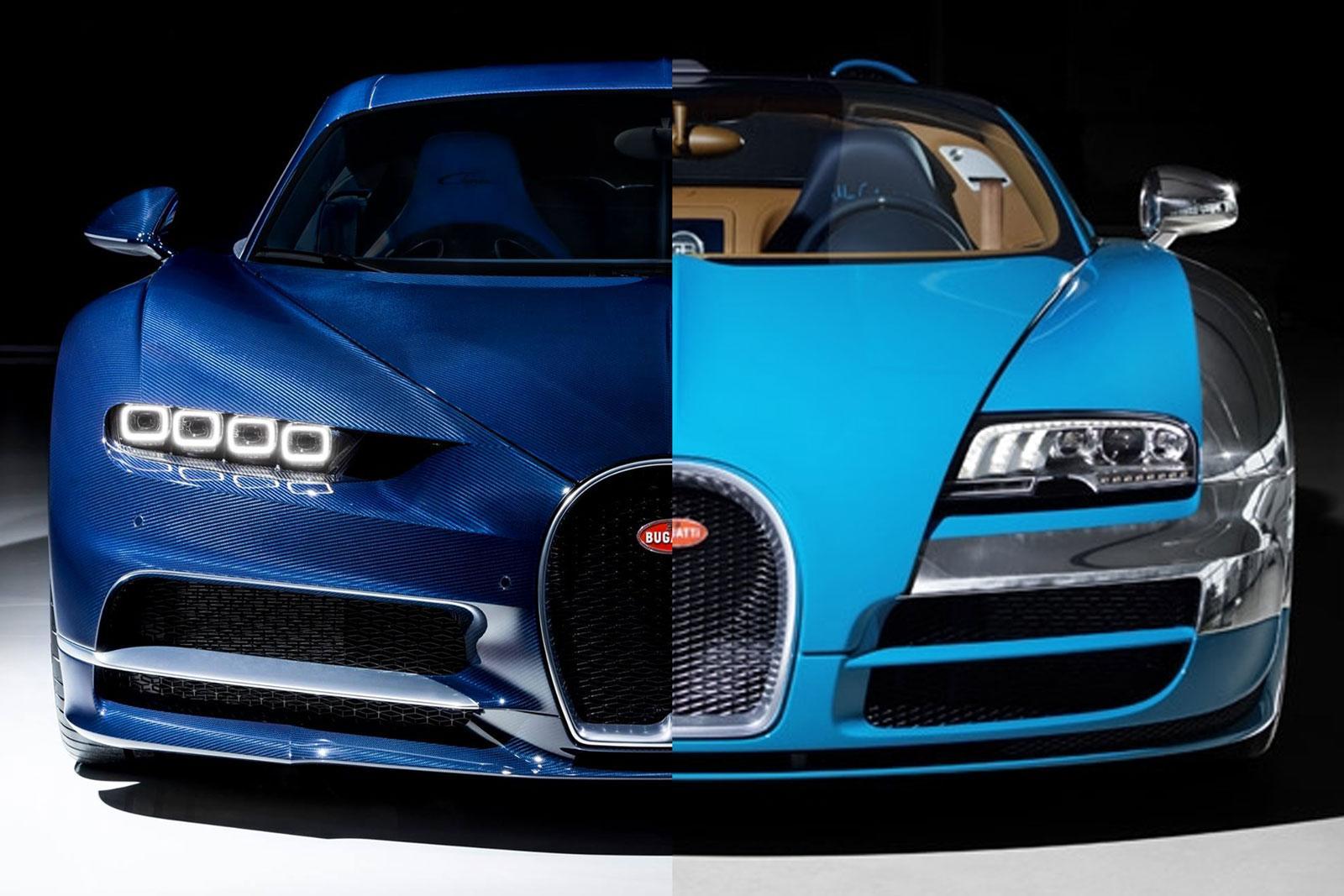 bugatti veyron vs bugatti chiron de verschillen topgear. Black Bedroom Furniture Sets. Home Design Ideas