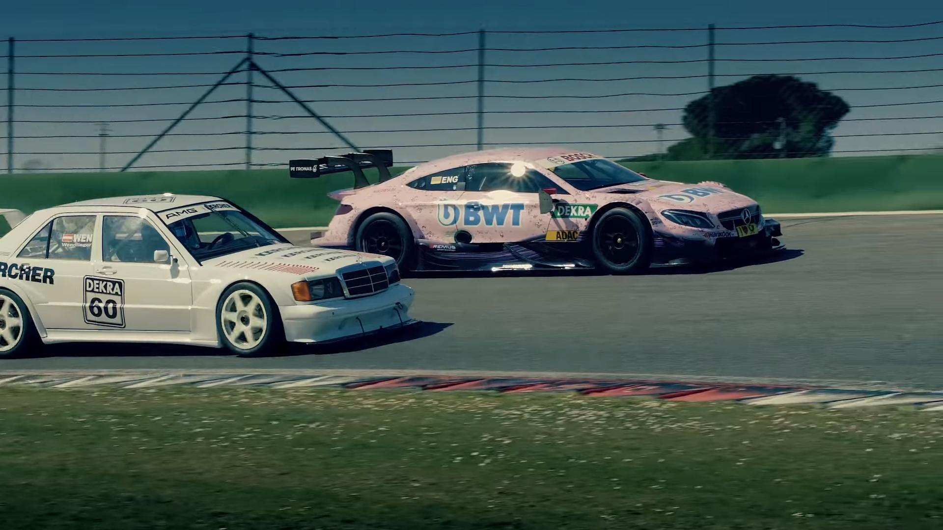 Mercedes 190E EVO II vs Mercedes-AMG C 63 DTM