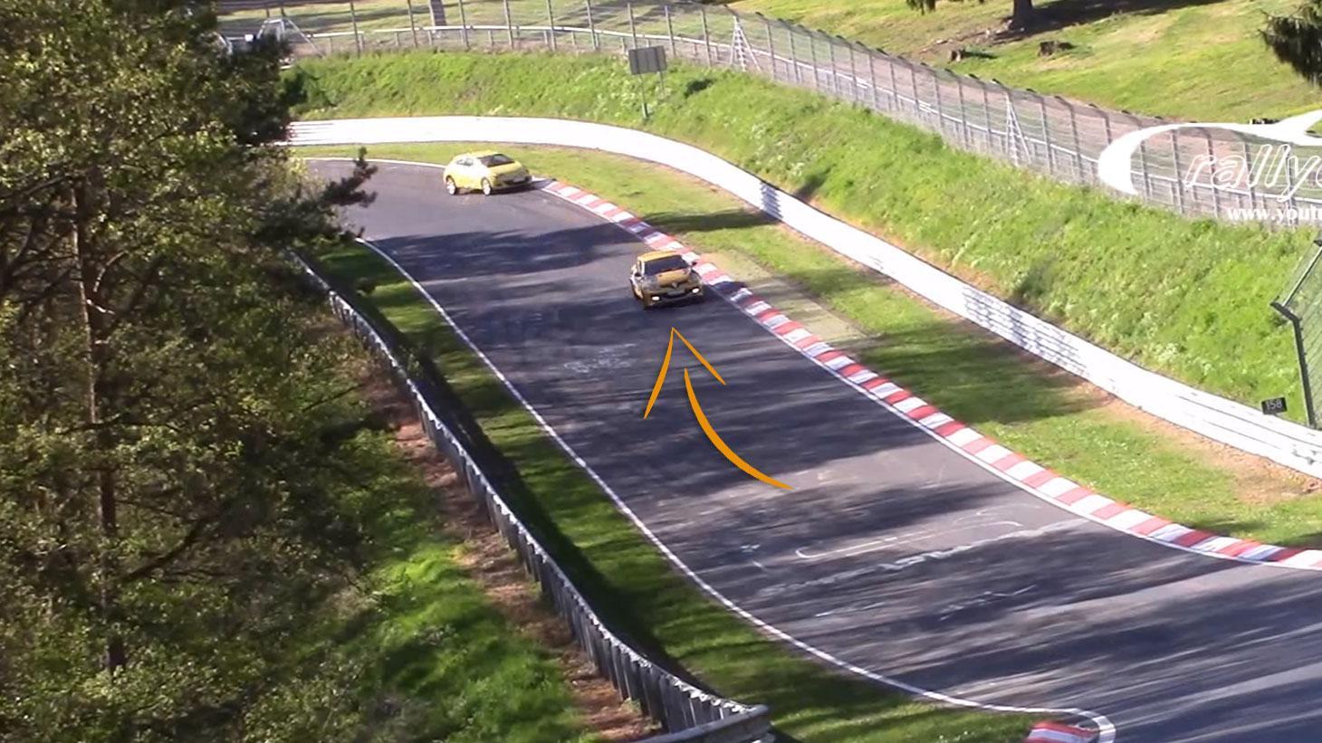 Renault Mégane RS crasht niet