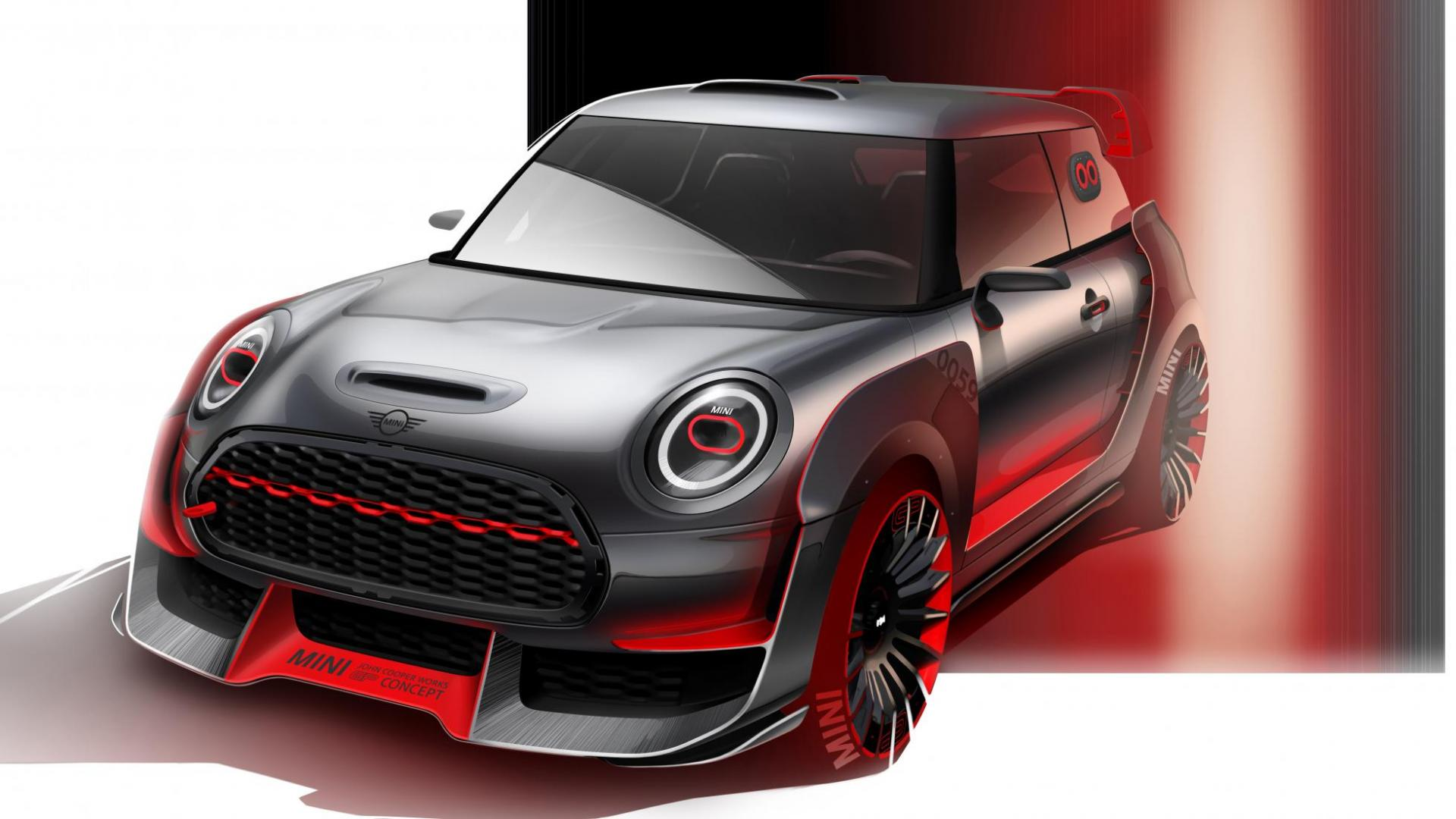 de nieuwe mini john cooper works gp concept is goed met lucht topgear. Black Bedroom Furniture Sets. Home Design Ideas