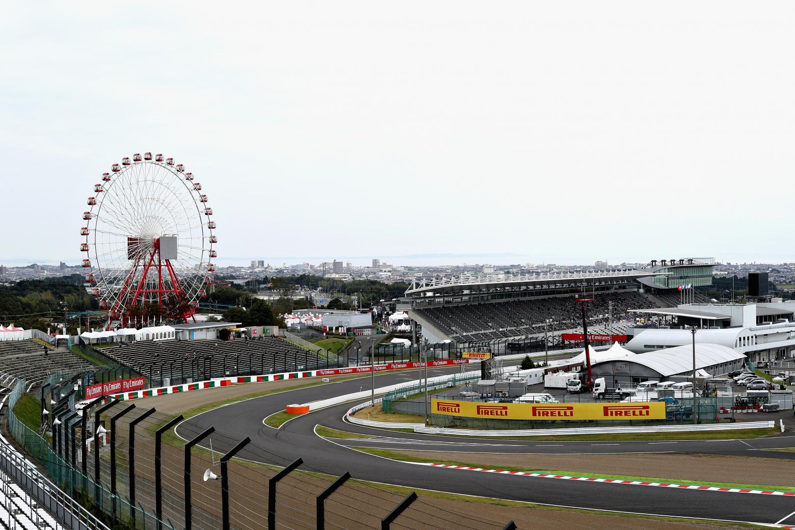 1e vrije training van de GP van Japan 2017