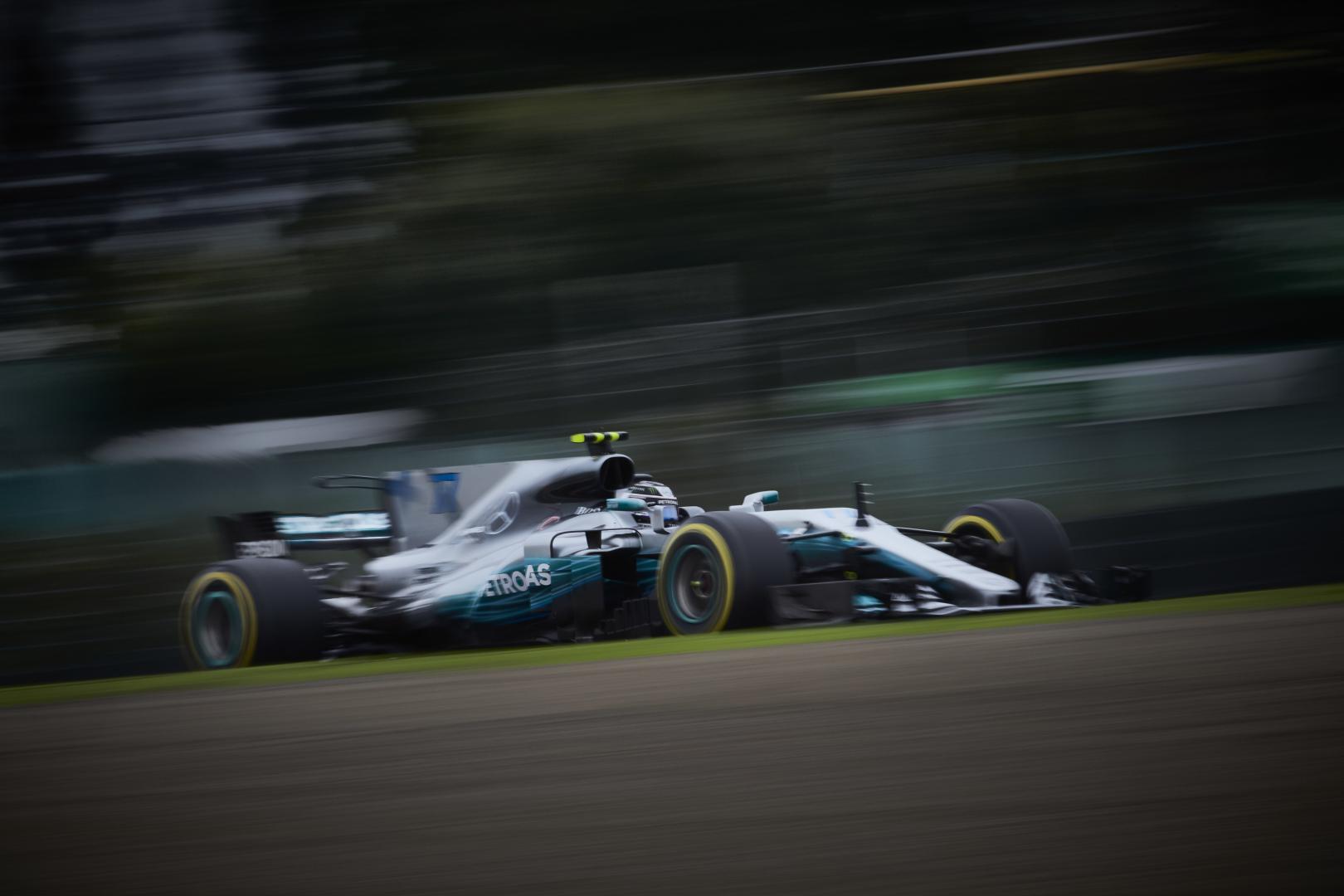 3e vrije training van de GP van Japan 2017