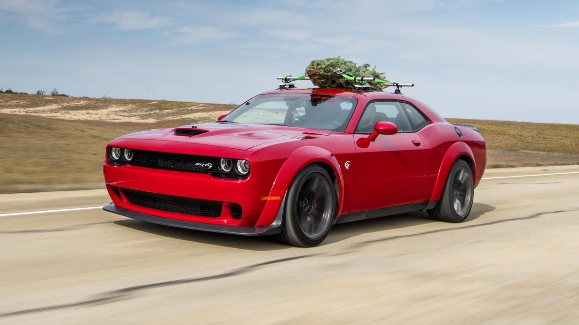Kun je 280 km/u rijden met een kerstboom op het dak?