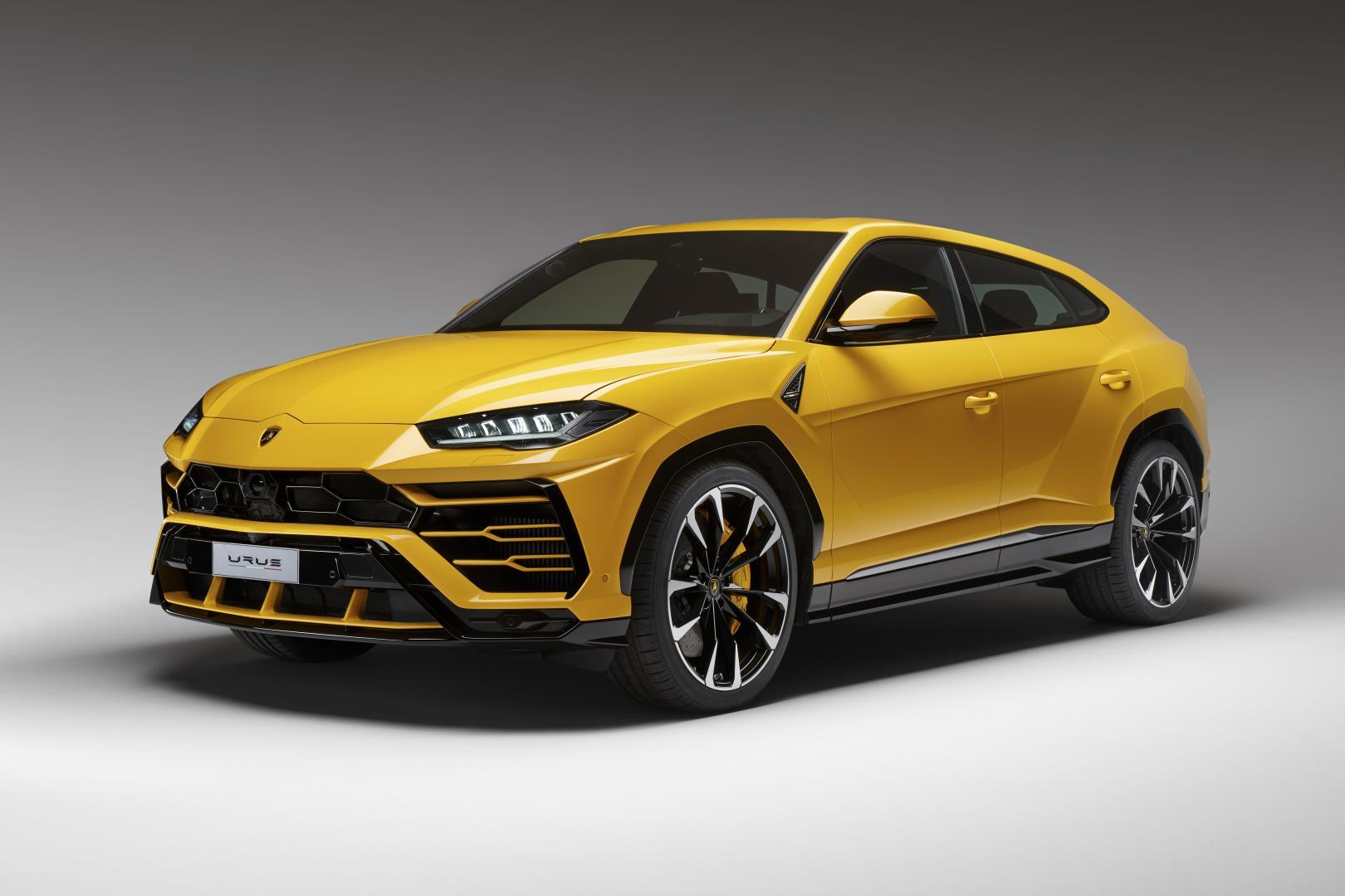 Lamborghini Urus 2017 geel