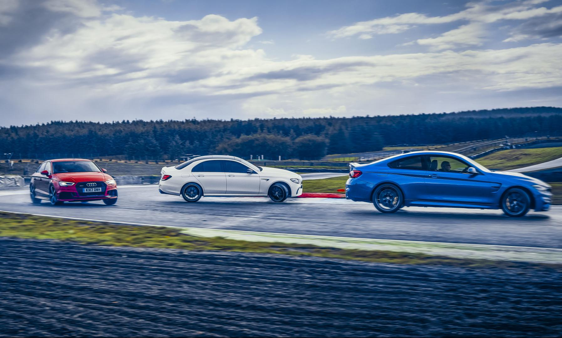 Mercedes-AMG E 63 S vs BMW M4 CS vs Audi RS 3