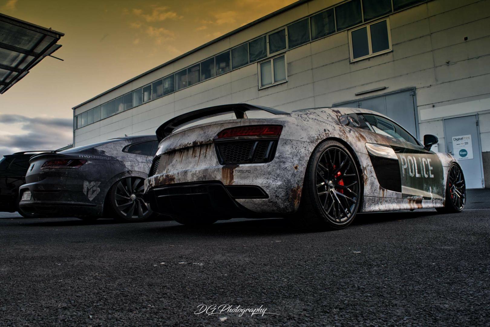 Audi R8 polizei wrap