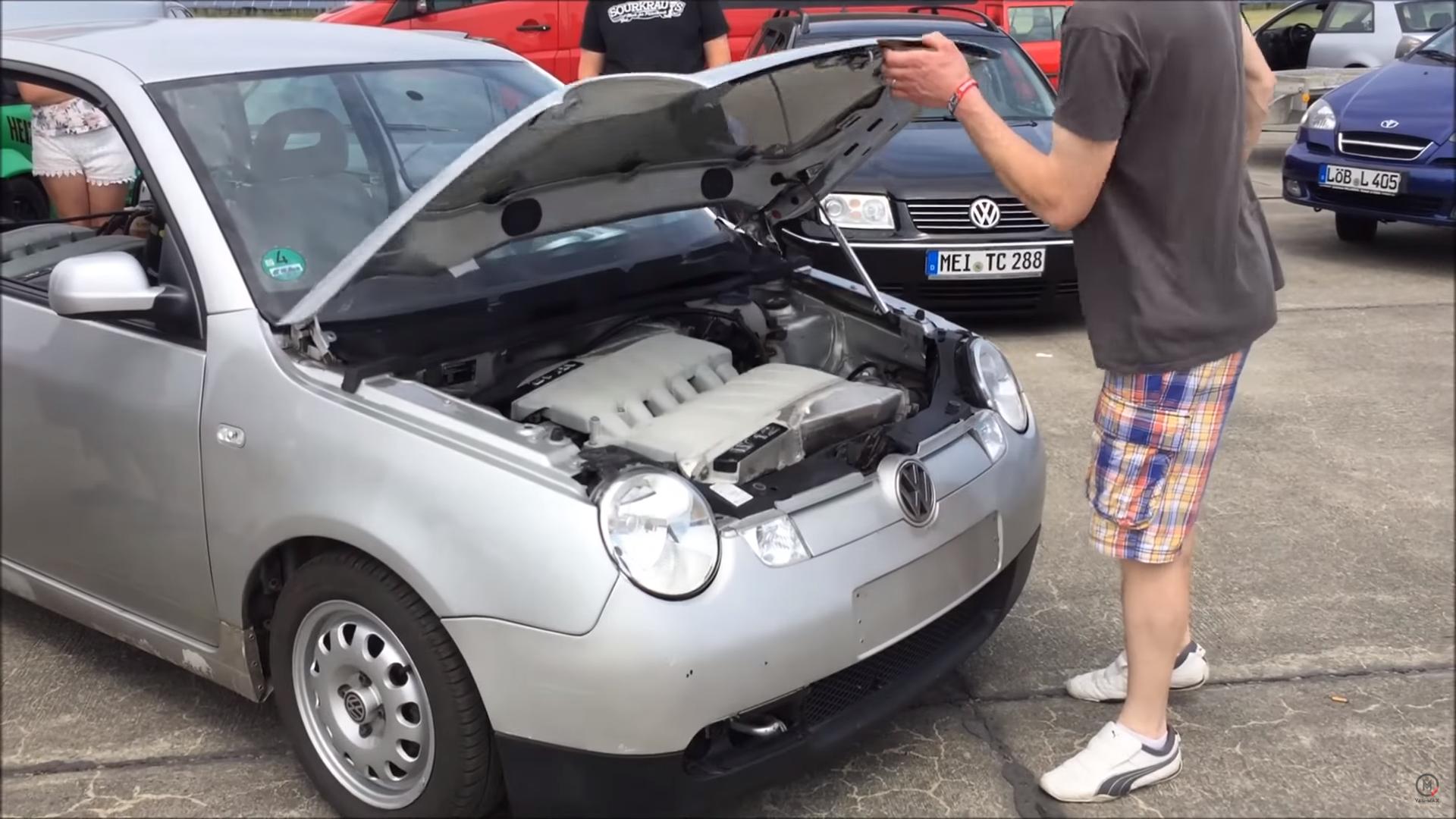 Volkswagen Lupo met TWEE W12-motoren