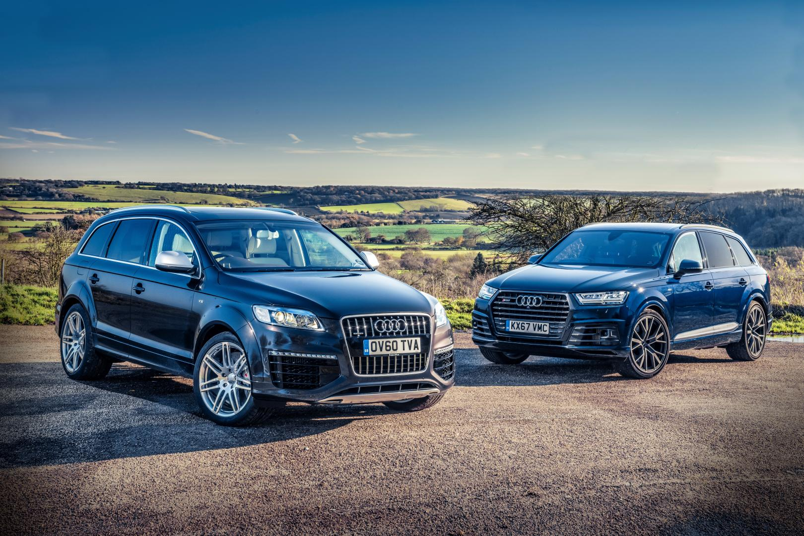 audi sq7 vs q7 v12 tdi v8 vs v12 topgear nederland. Black Bedroom Furniture Sets. Home Design Ideas