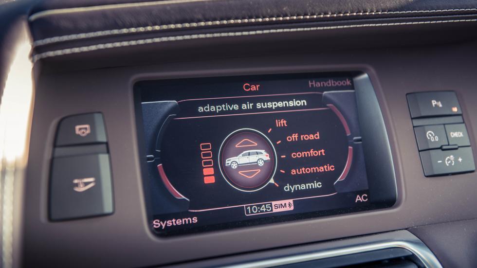 Audi Q7 V12 TDI interieur hout