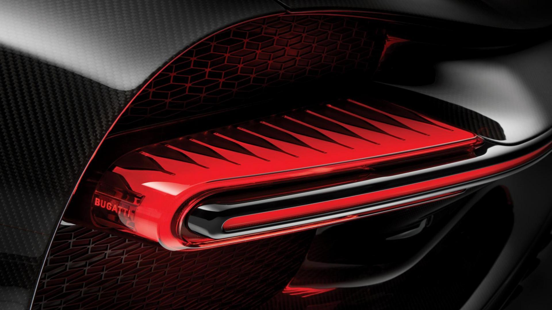 Bugatti Chiron Sport achterlicht