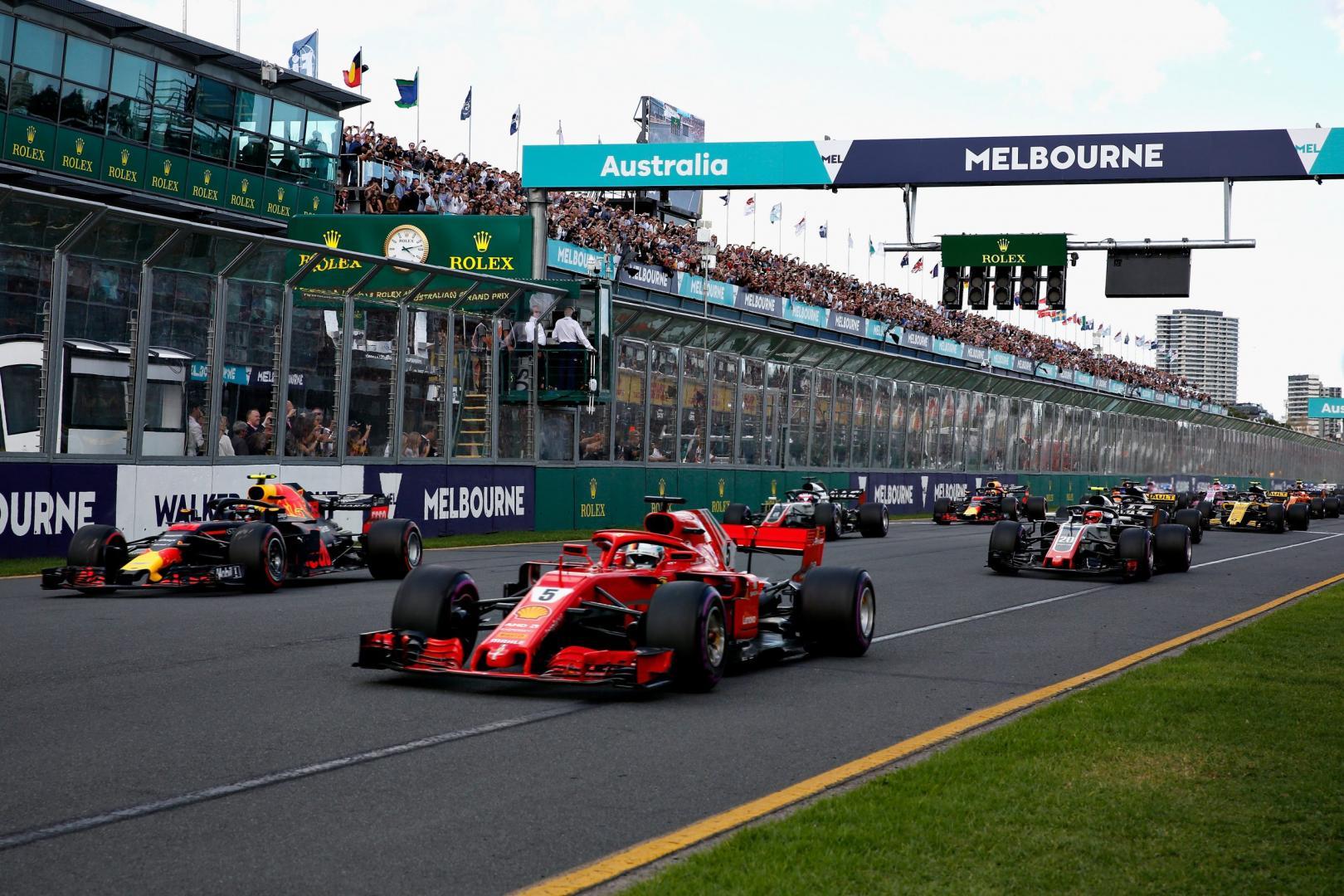 Eerste F1-race van 2018