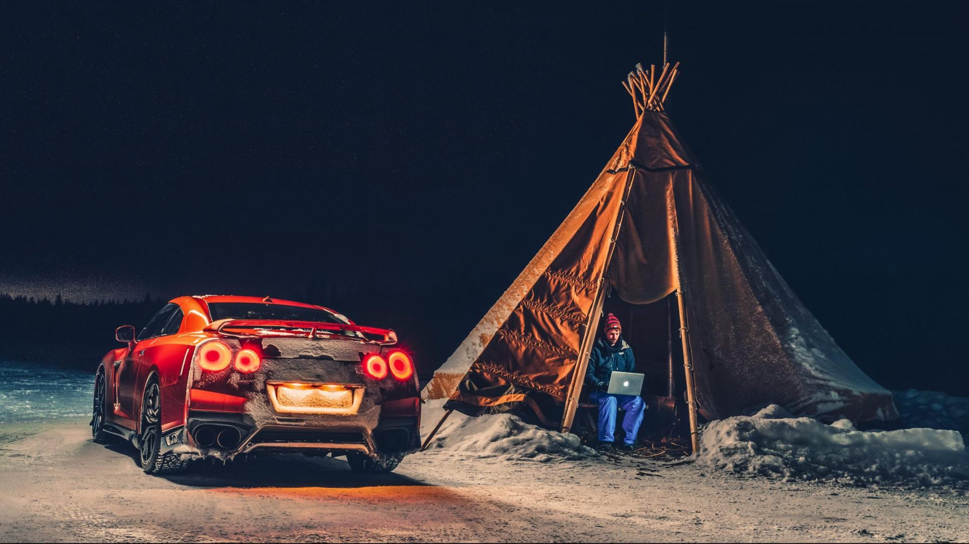 Nissan GT-R Sneeuw