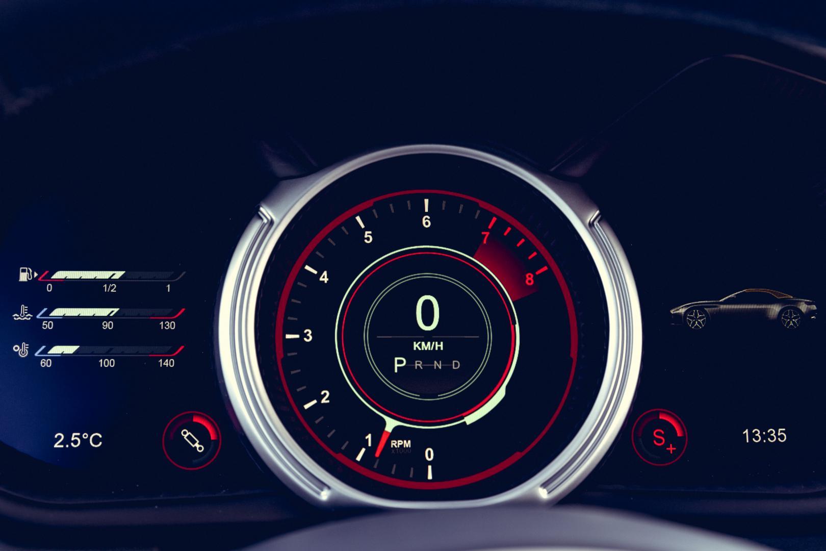 Aston Martin DB11 V8 Volante teller (2018)