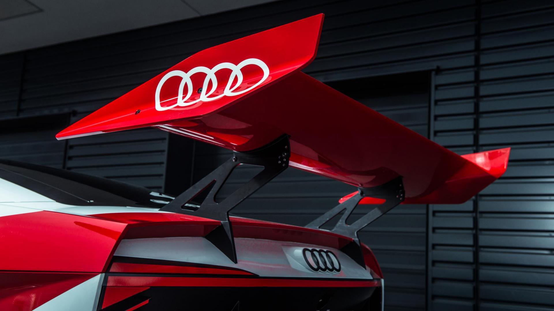 Audi e-tron Vision Gran Turismo spoiler (2018)