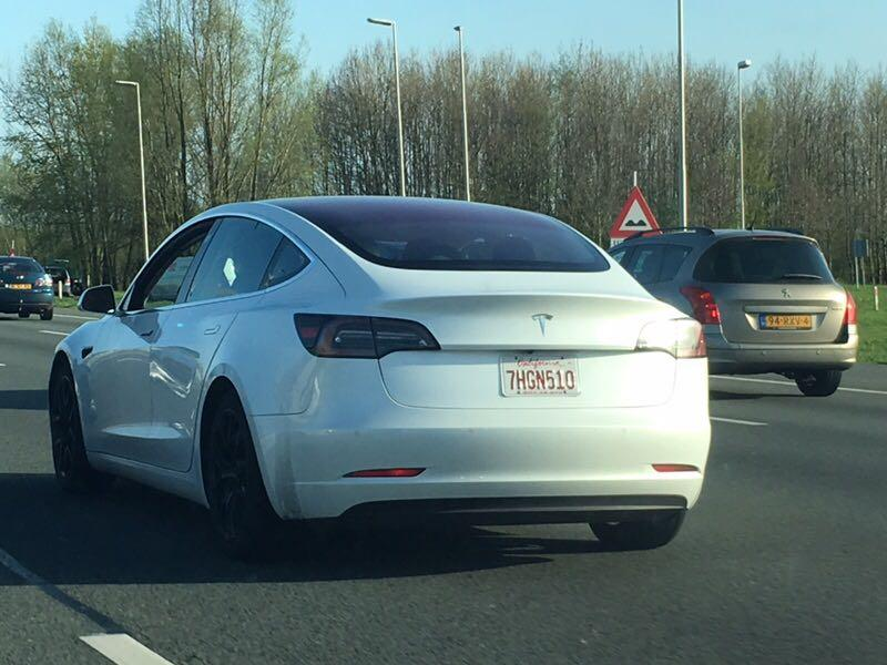 Tesla Model 3 in Nederland gespot