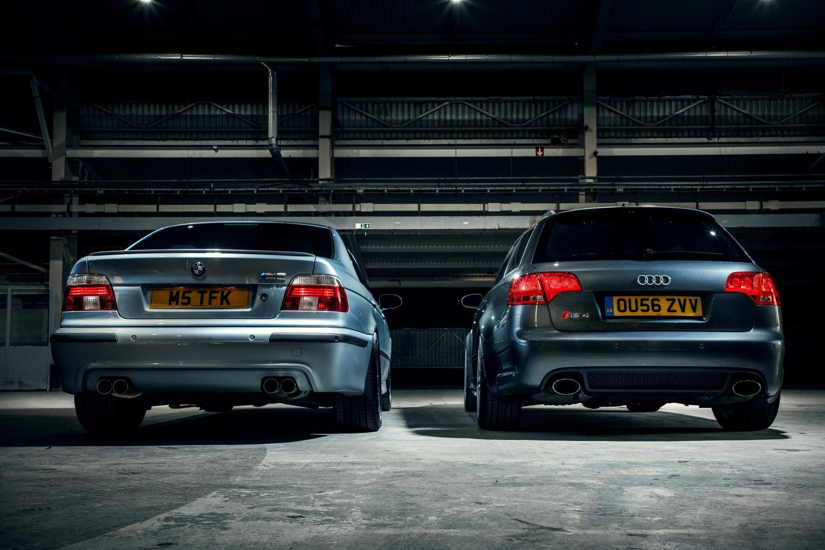 Tweedehands BMW E39 M5 en Audi RS 4