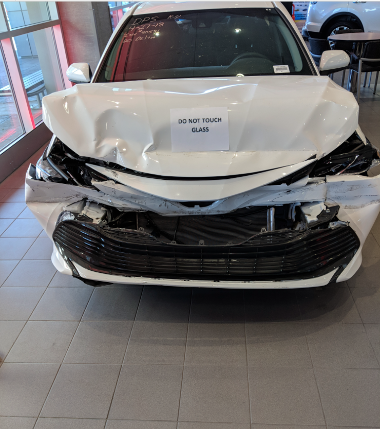 Toyota Camry 2018 crash