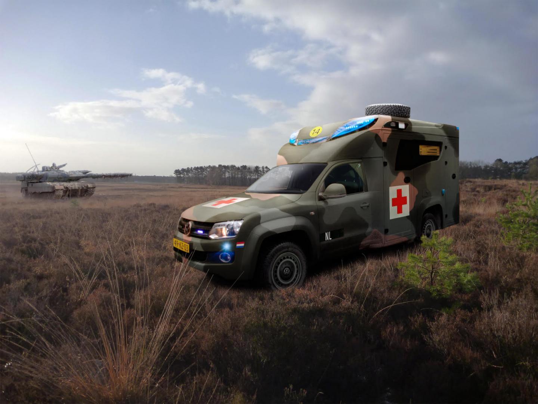 Volkswagen Amarok Ambulance tamlans nieuwe ambulance defensie