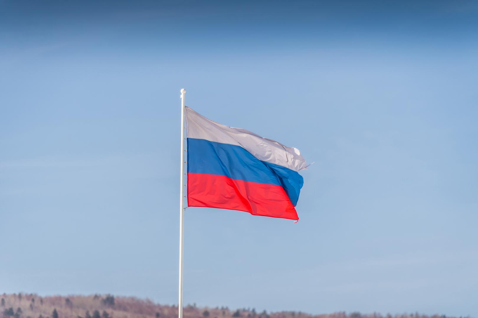 Baikalmeer: Mazda CX-5 en Russische vlag (2018)