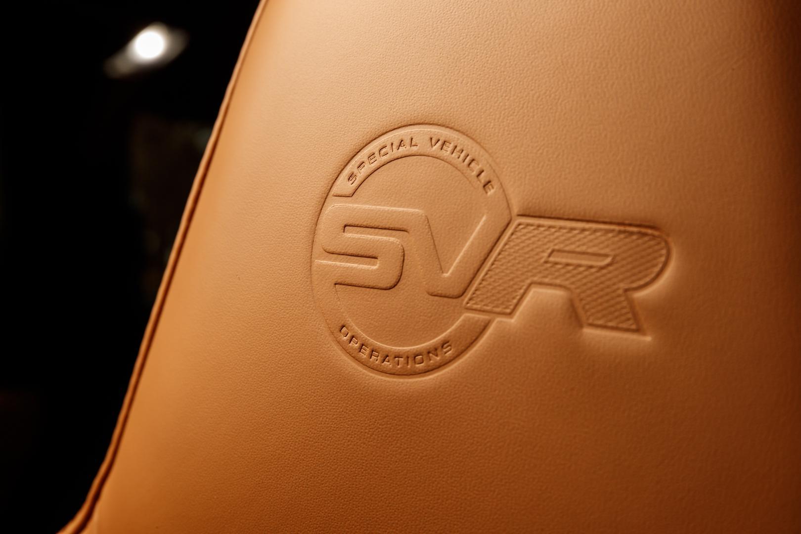 Range Rover Sport SVR badge (2018)