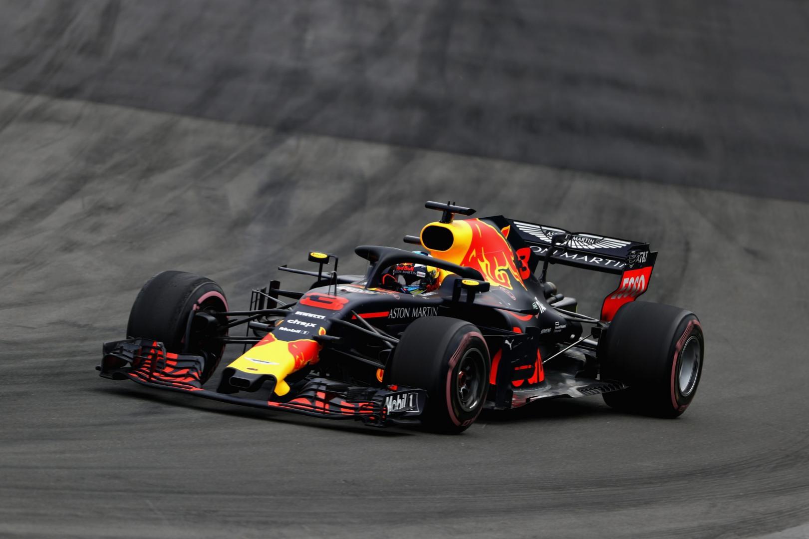 1e vrije training van de GP van Groot-Brittannië 2018