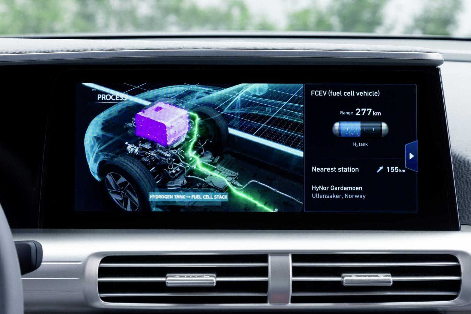 Hyundai Nexo 2018 display
