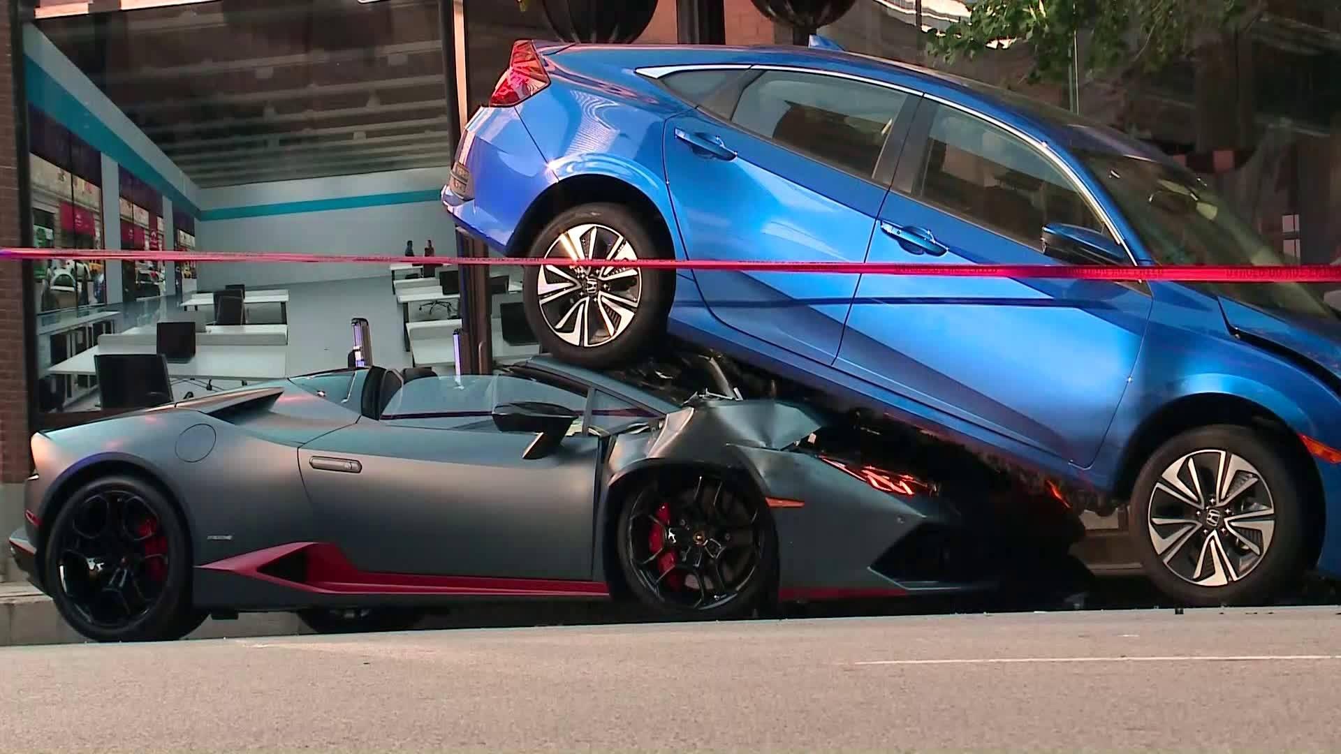 Lamborghini Huracán lost parkeerprobleem op