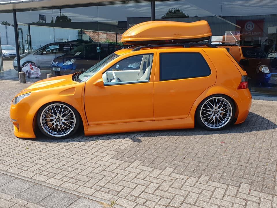 Volkswagen Golf 4 Oranje Tuning