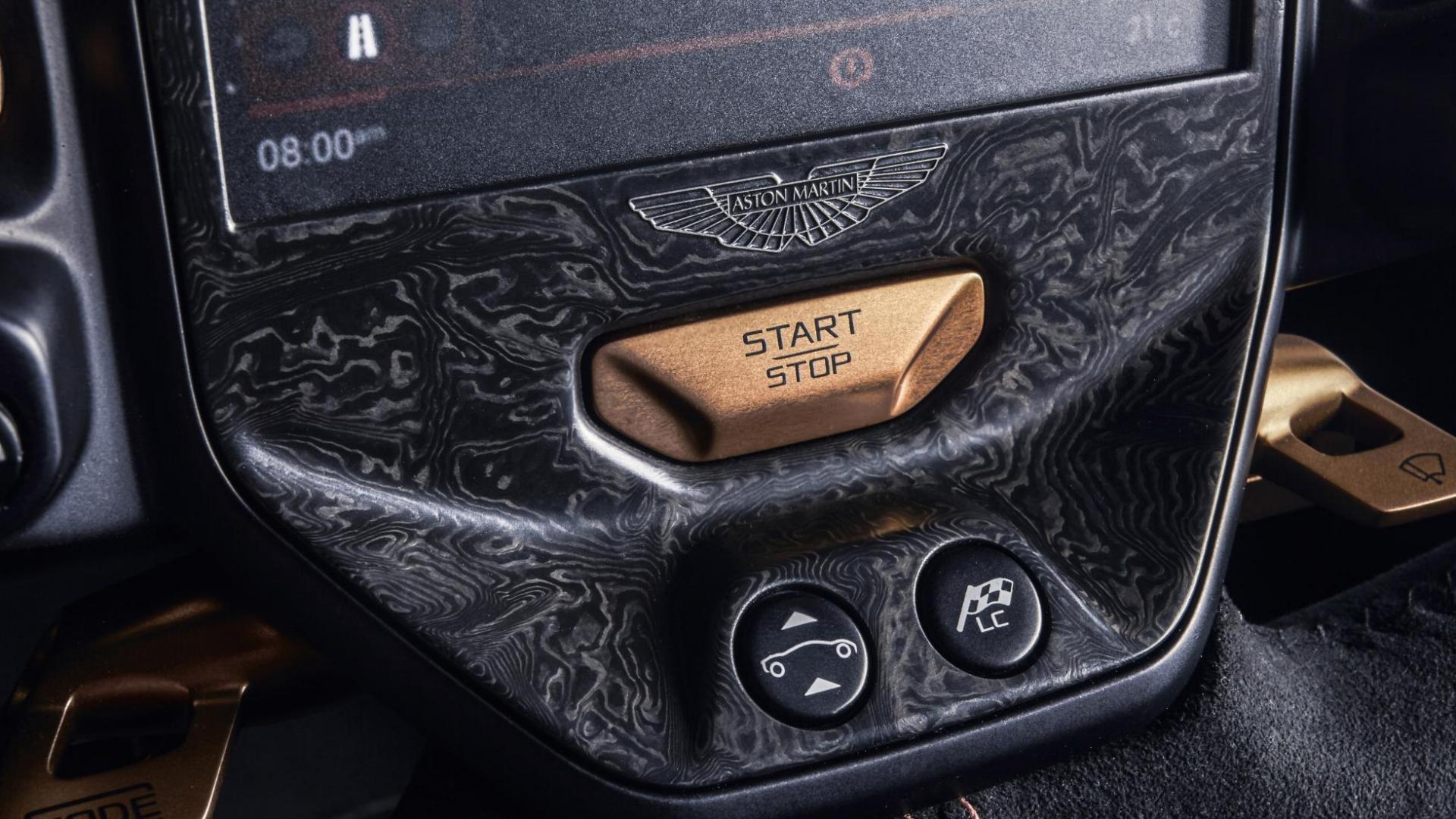 Aston Martin Valkyrie start stop knop