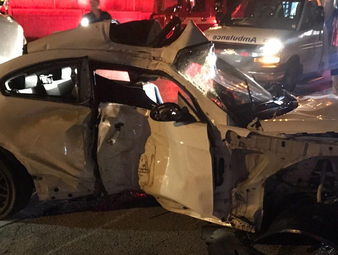 BMW crasht