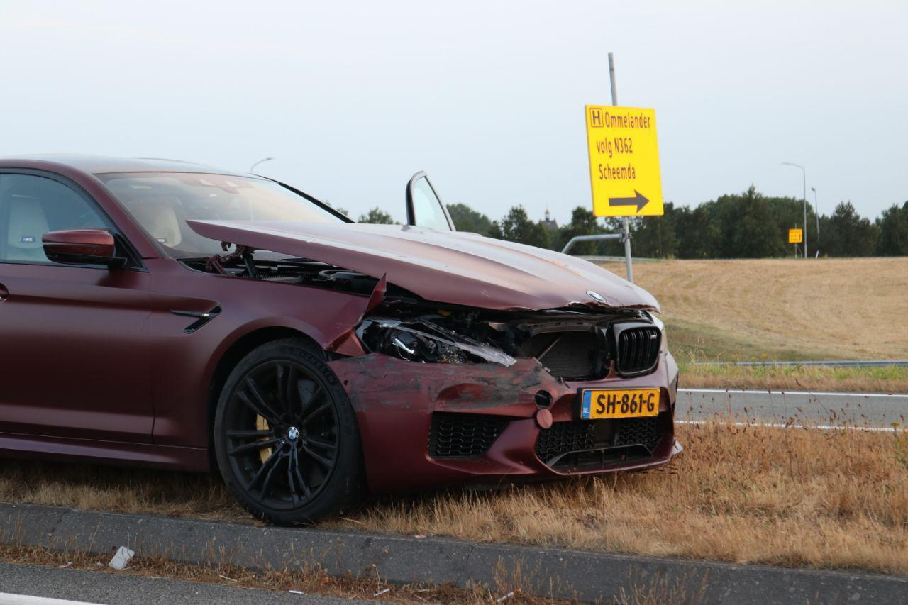 BMW m5 first edition crash nederland
