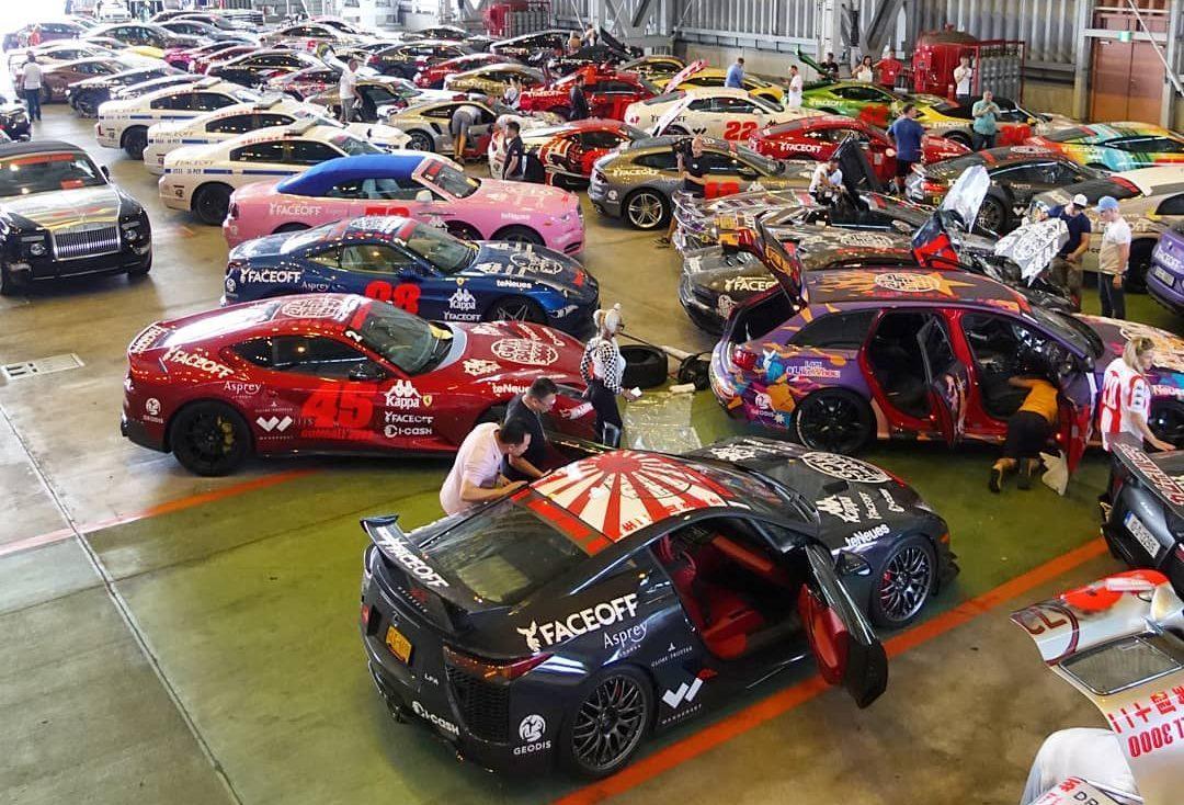 Auto's van Gumball 3000 kwamen niet aan in Japan