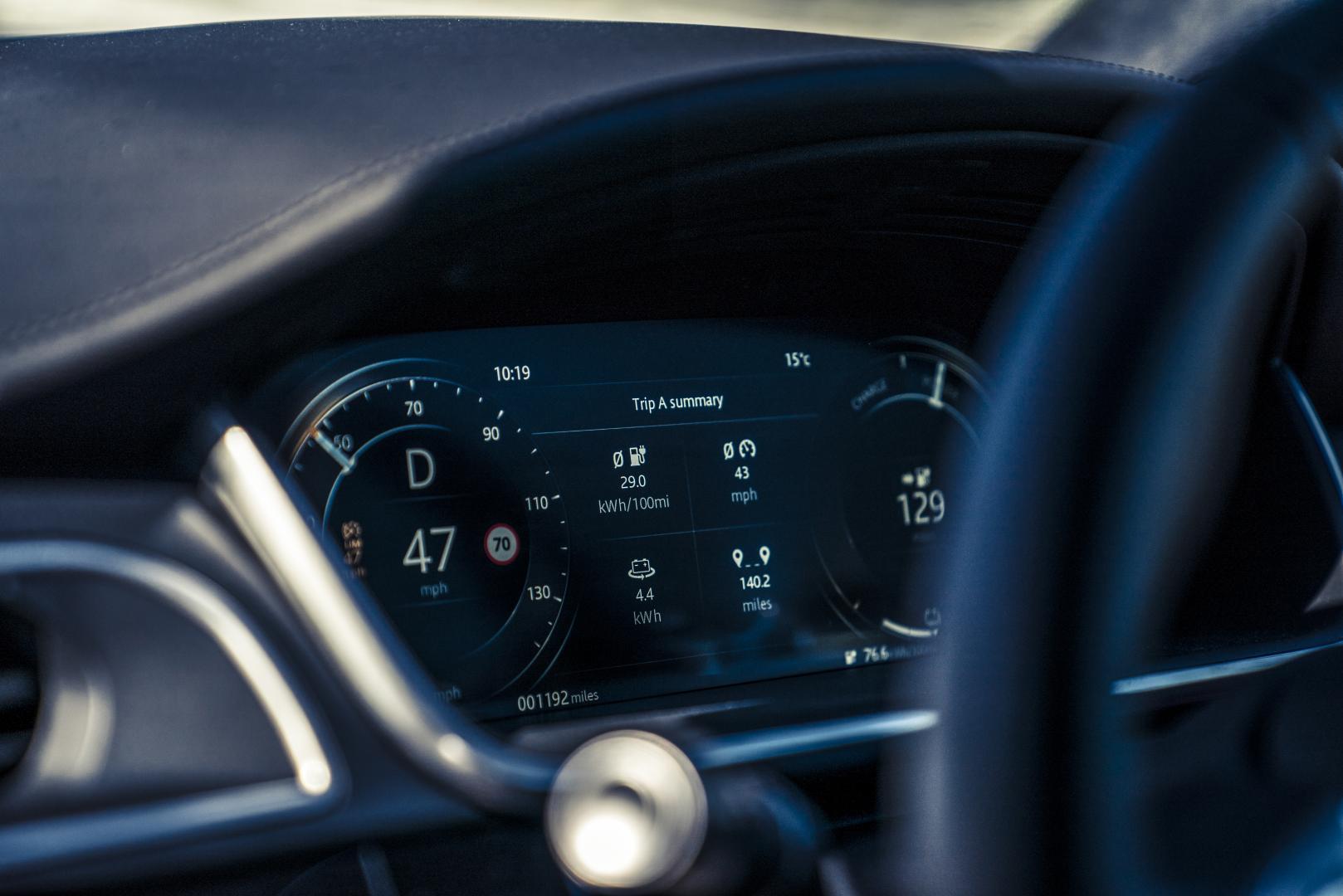 Jaguar I-Pace instrumentarium