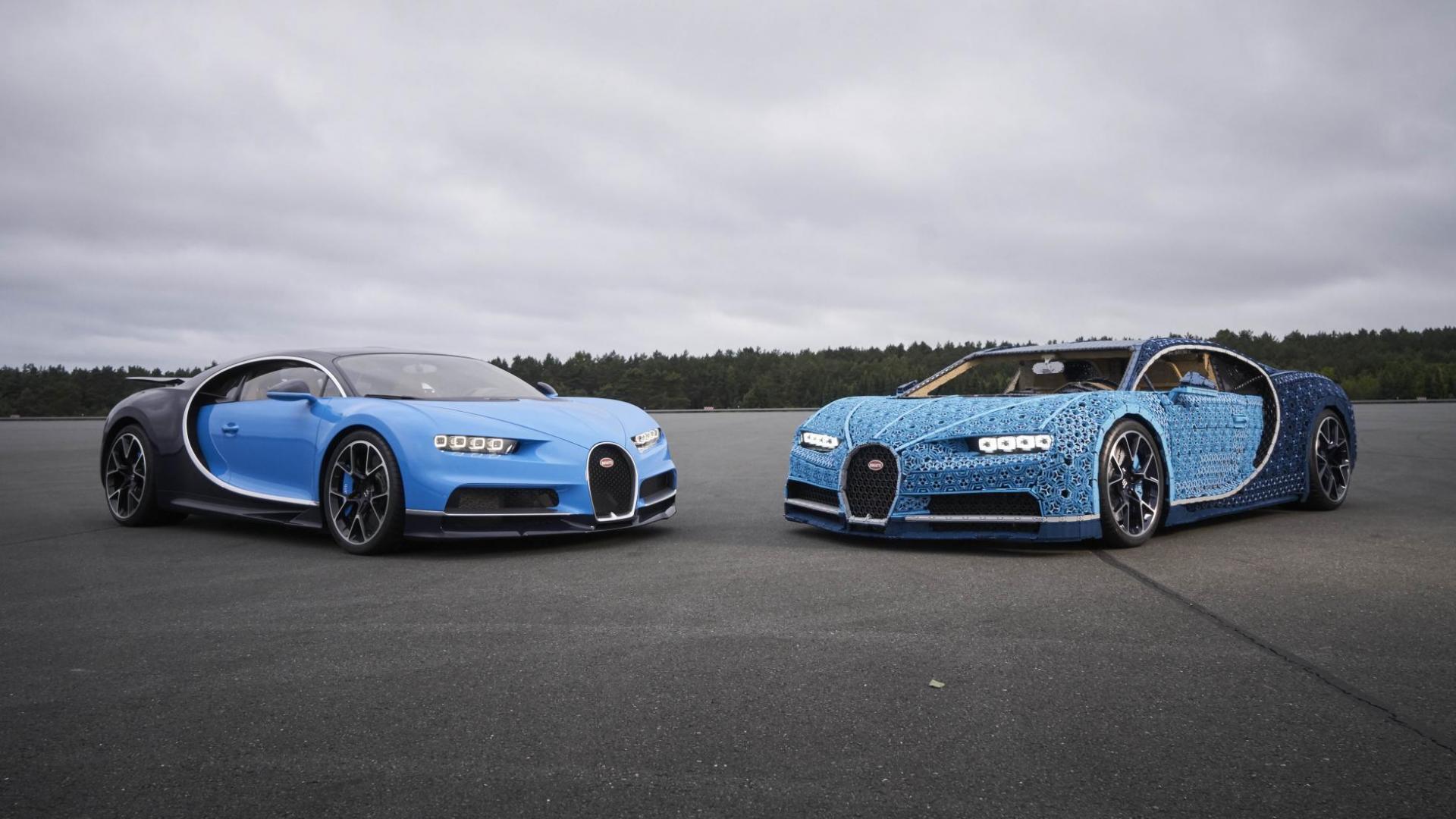 Levensgrote Lego Bugatti Chiron