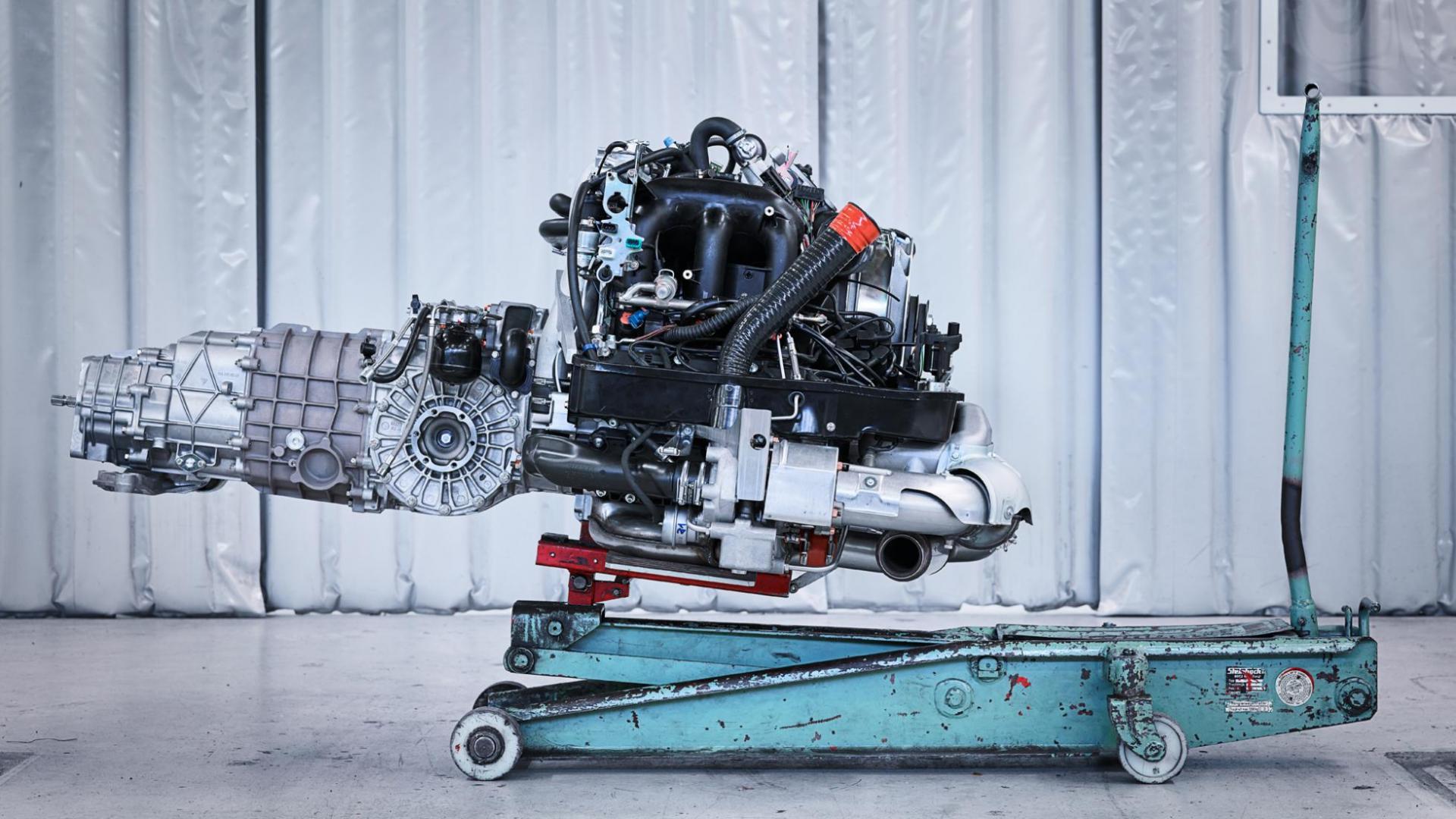 Porsche 993 Turbo motor boxer