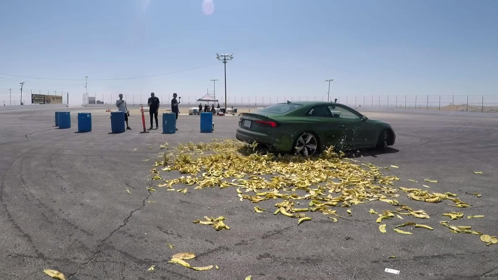 Slip je echt door bananenschillen