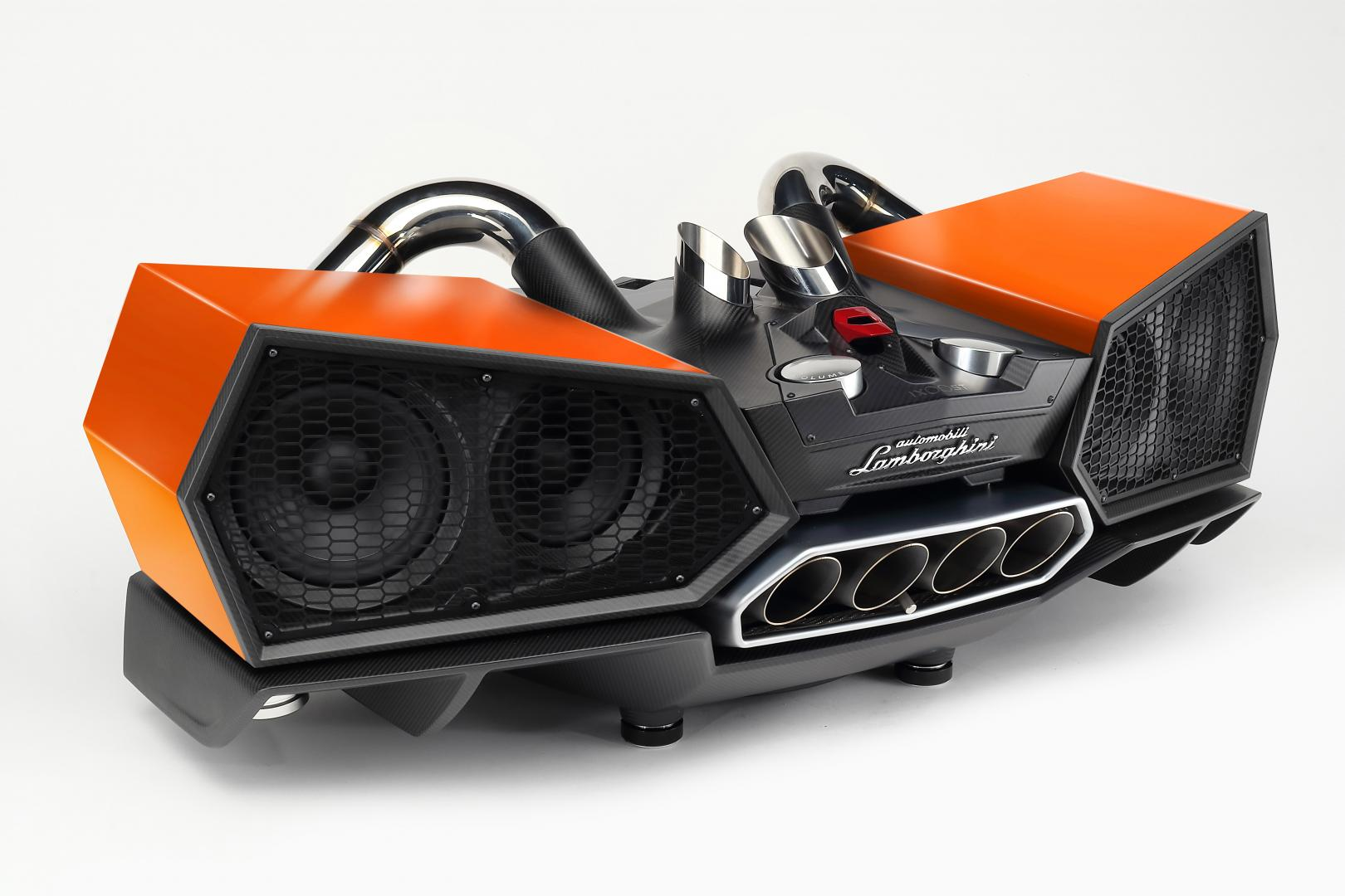 Lamborghini Esavox Carbon Fibre Docking Station Speaker oranje